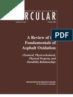 Circular-A Review of the Fundamentals of Asphalt Oxidation