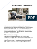Who retrieves Talibans Dead ?