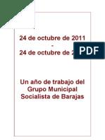 Un año de trabajo del Grupo Municipal Socialista de Barajas
