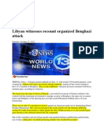 Eye Witness Report on Benghazi