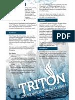 Triton Dragon Boat Team Information