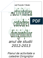 Activitate Catedrei Dirigin'Ilor