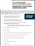 Mandatory Evacuation – Hurricane Sandy
