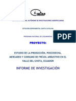 Estudio Produccion Poscosecha Mercadeo Consumo Frejol Arbustivo Valle Chota Ecuador