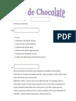 Texto Instrucional - Bolo de Chocolate
