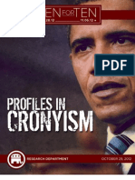 Profiles In Cronyism