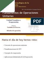 Variables de Proceso Evaporadores