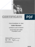 SAP Education,  Volker Neumann,  1 SAP Certification,  SAP Training Walldorf
