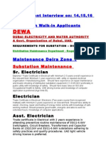 Dewa+List 2 Substation+Distribution+Project+Requirements+List+for+ +Foremen+&+Technicians+(1)