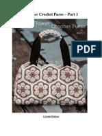 2African Flower Crochet Purse