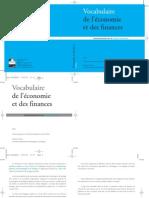 Vocabulaire Economie Finances