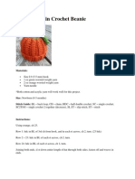 Baby Pumpkin Crochet Beanie