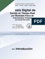 Síntesis Digital de Sonido en Tiempo Real por Modelado Físico de Instrumentos Virtuales de Cuerda Percutida - Nelly Villacorta, Carlos Marchiaro