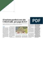 Negocio Turismo e Impuestos Peru