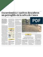 Petroglifo descubierto Cusco