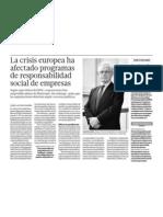 RSE y La Crisis Economica Europa