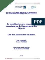 La Mobilisation Des Ressources Humaines Par Le Management Par Objectif ADM