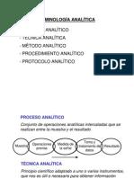 Terminologia de Analisis Qx