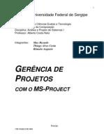 Gestão de Projetos - PMI - Gerência de Projetos com MS-Project - Universidade Federal de Sergipe