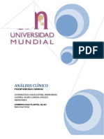 ANÁLISIS CLÍNICO DE PSICOPATOLOGIA