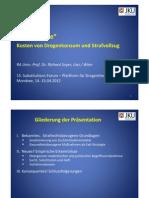 R Soyer Kosten Von Drogenkonsum Und Strafvollzug 15 SUF 2012