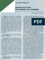 Geografia de La Razon (Sobre La Critica Kantiana a La Cosmologia)