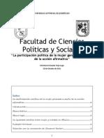 Participacion Politica de La Mujer en México