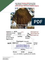 "72) Receita De Tricô Á Máquina-Poncho Tamanho 48/50-4 FIOS (mais grosso)-Decote Reto - Poncho Size 48/50 or ""G"" - 4-wire Wool Industrial 2/28 to knitting machine"