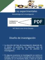Diapositivas_Diseños no experimentales