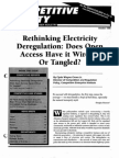 Vol 5 Issue 2 Rethinking Electricity Deregulation Does Open Access Have It Wired or Tangled