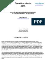 Recent Developments in Biofloc Technology in Shrimp Culture and Its Economics