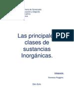 Las Principales Clases de Sustancias Inorganicas