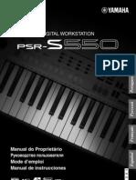 Manual Teclado Yamaha Psrs550