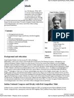 Gopal Krishna Gokhale - Biography