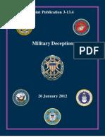 Joint Publication 3-13.4 Military Deception