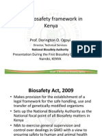 Biosafety Framework in Kenya