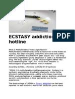 ECSTASY Addiction Hotline