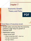 Chapter 7- Economic Growth-Theory and Policy