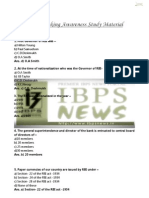 IBPS Banking Awareness Study Material