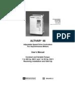 Altivar 66 ATV66 User Installation Manual
