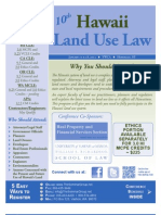 Hawaii Land Use Law Conference (Jan. 17-18, 2013)