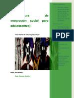 2012 ARQUITECTURA DE INTEGRACIÓN SOCIAL ADOLESCENTES  secundaria