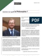 Cours de Philosophie.fr Qu Est Ce Que La Philosophie