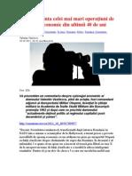 România, ţinta celei mai mari operaţiuni de spionaj economic din ultimii 40 de ani