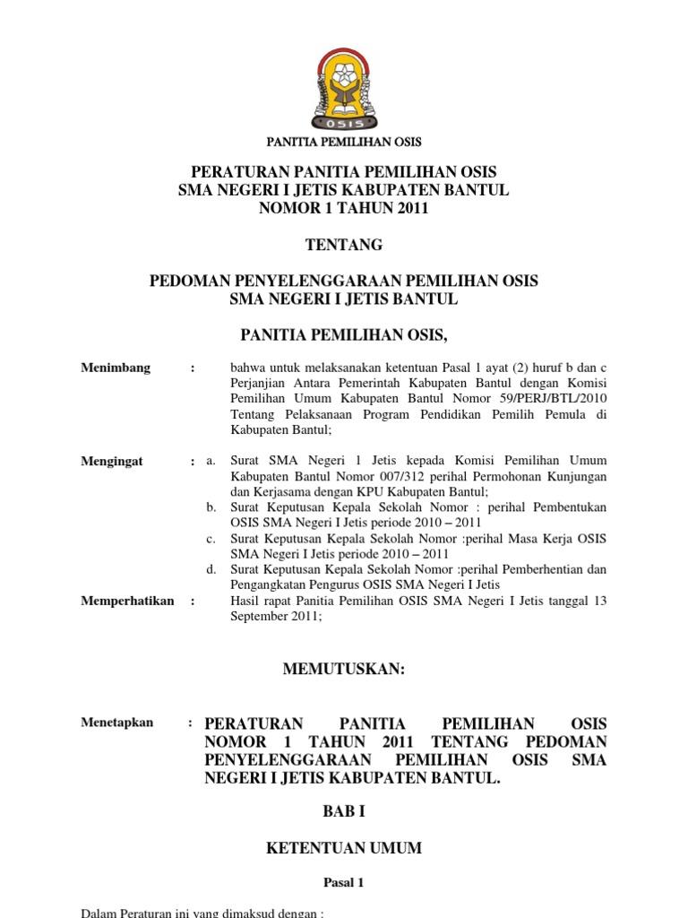 Contoh Surat Suara Pemilihan Ketua Osis Sma - Kumpulan ...