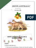 Mysterious Australia Newsletter - December 2011