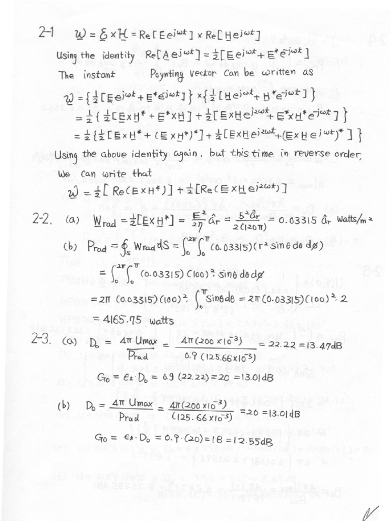 Solution manual antenna theory by balanis edition2 chapter2 fandeluxe Image collections