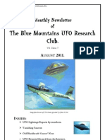 The Blue Mountains UFO Research Club Newsletter - August 2011