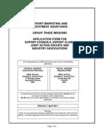 New Export Councils Application Form 1 April 2011 Final