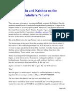 Narada and Krishna on the Adulterer's Love